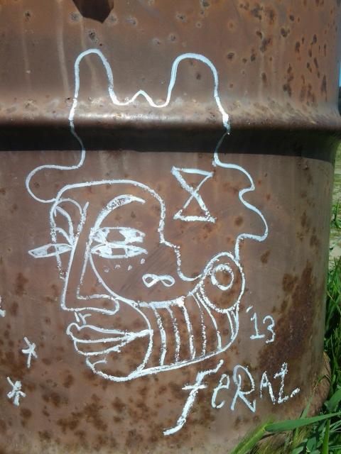 Albany Bulb Art, Fran Osborne