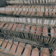 Factory Farm Hogs, Fran Osborne, oil painting, farm animal
