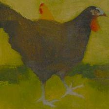 Free Range Chickens, Oil Painting, Fran Osborne