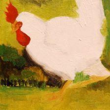 Chickens, Free Range, Fran Osborne, oil painting