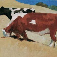 Free Range Cows, Tilden Park, Fran Osborne, oil painting