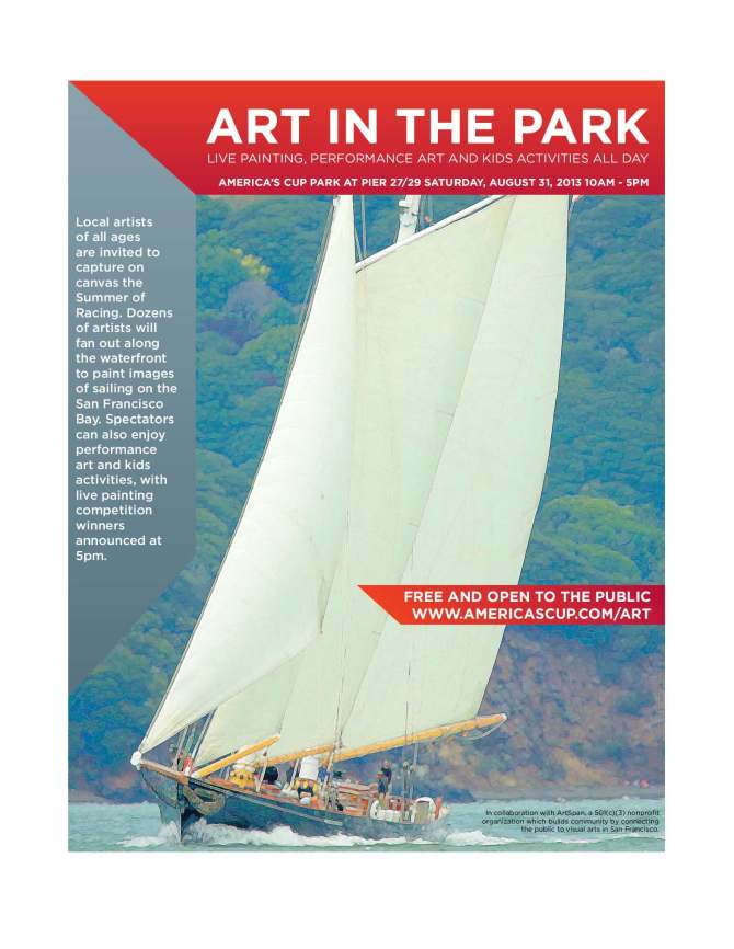 Art in the Park, Americas Cup 2013, Fran Osborne, San Francisco